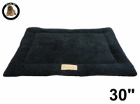 Ellie-Bo Black Sherpa Fleece Cage Mat to fit Ellie-Bo 30 inch Dog Cage